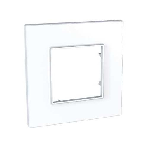 Plaque de finition blanche 1 poste Unica Quadro - SCHNEIDER MGU2.702.18