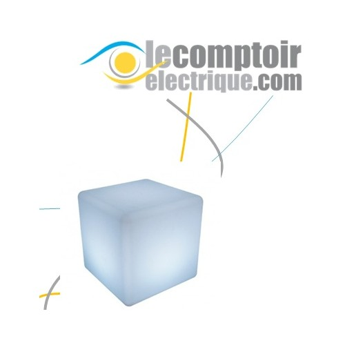 CUBE LUMINEUX RGB + TELECOMMANDE 40*40*40 - VISION 6001