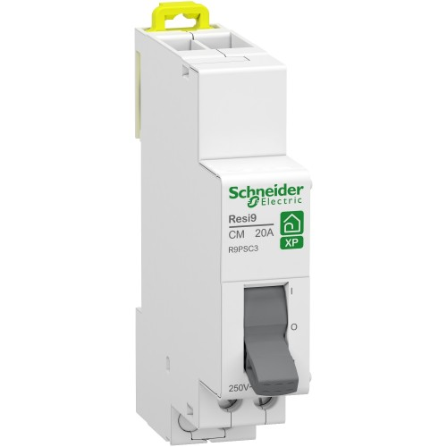 Resi9 XP - commutateur 3 positions - 1OF - 20A - 250VCA -Schneider R9PSC3