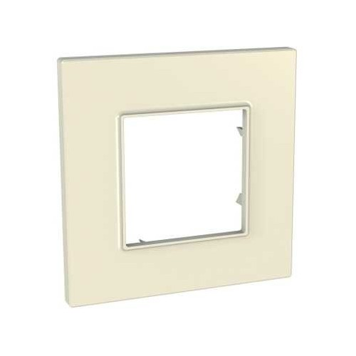 Plaque de finition Pierre 1 poste Unica Quadro - SCHNEIDER MGU2.702.16 Couleurs Standard