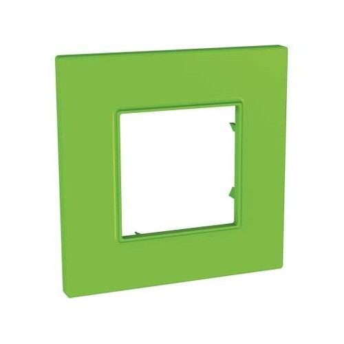 Plaque de finition Bio 1 poste Unica Quadro - SCHNEIDER MGU4.702.28 Couleurs naturelles