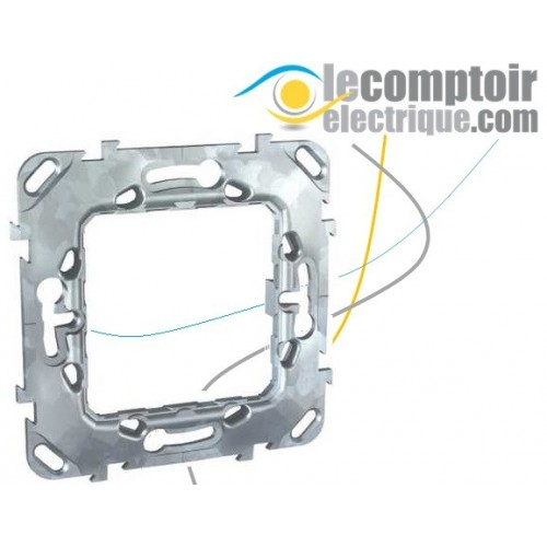 Support de fixation pour Unica et Unica Top sans griffes 2 modules 71mm - SCHNEIDER MGU7.002 Supports & Boîtes de dérivation