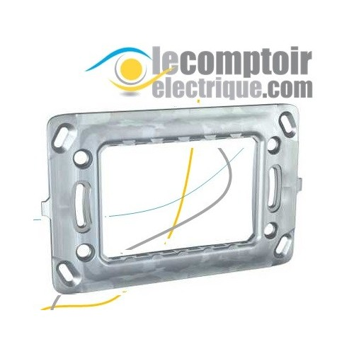 Support de fixation pour Unica et Unica Top sans griffes 3 modules - SCHNEIDER MGU7.103 Supports & Boîtes de dérivation