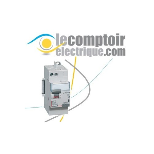 Interrupteur differentiel DX3-ID 2P 63A type A 30mA raccordement vis/auto - LEGRAND 411651