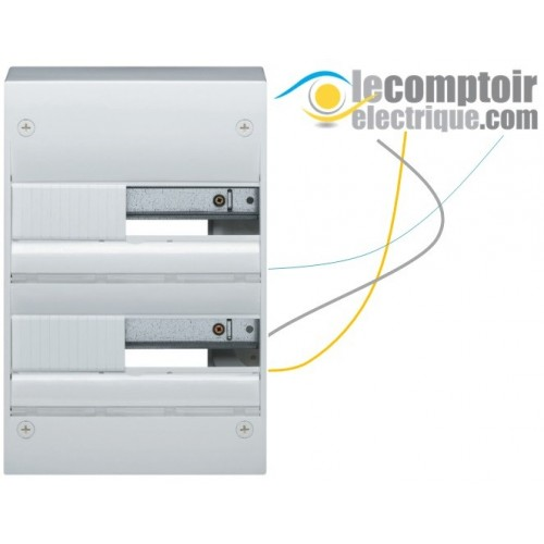 Coffret electrique Gamma+ 13 en saillie, 2 rangees, 26 modules IP30 - HAGER GD213A Coffrets & Portes
