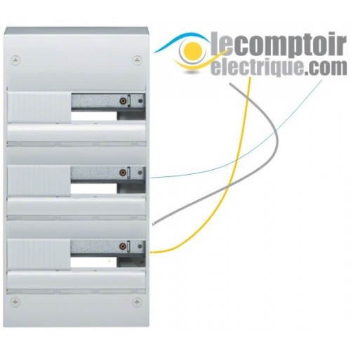 Coffret electrique Gamma+ 13 en saillie, 3 rangees, 39 modules IP30 - HAGER GD313A Coffrets & Portes