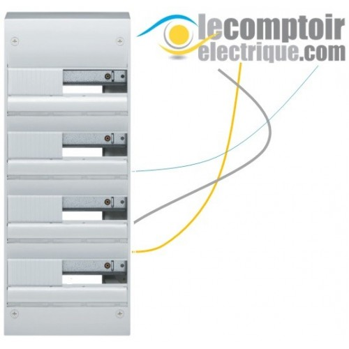 Coffret electrique Gamma+ 13 en saillie, 4 rangees, 52 modules IP30 - HAGER GD413A Coffrets & Portes