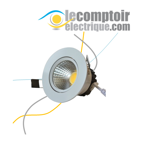 Spot LED Orientable encastre avec alimentation electronique 5W 3000K - VISION EL 7635C Spots LED